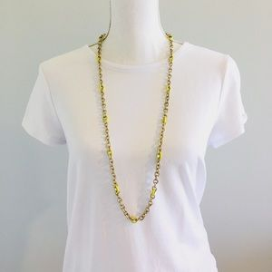 J. Crew Yellow and Gold Chain Necklace